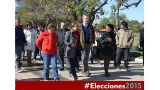 Obras. Osuna y el candidato a viceintendente Martín Uranga.