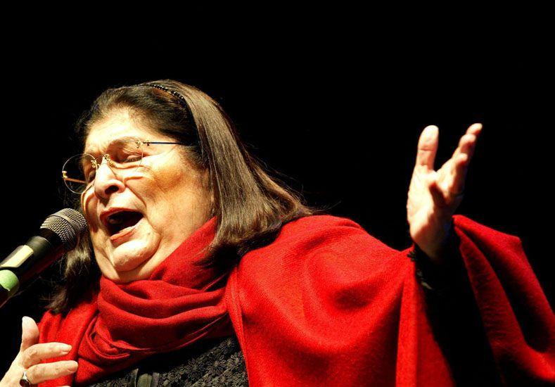 Celebrada. Sosa será homenajeada hoy a las 21 con un concierto en el centro cultural Kirchner.
