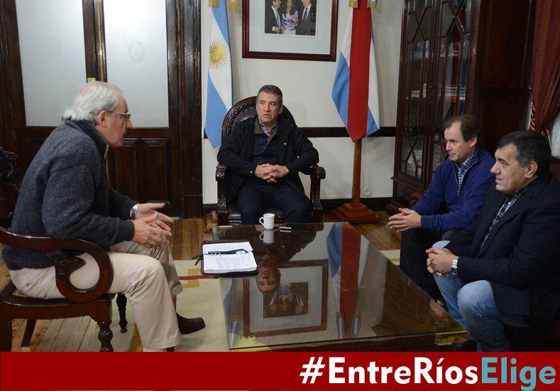 Candidato. Rinaldi valoró positivamente la gestión de Urribarri.