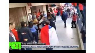 Se conoció el video de la agresión a la familia de Messi en la final de la Copa América