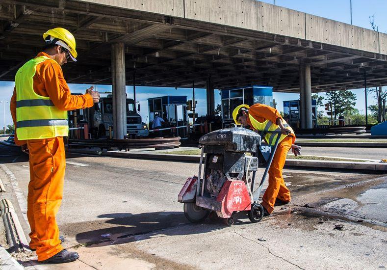 Continúan los trabajos de reparación de los accesos al Túnel Subfluvial
