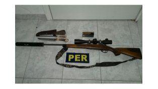Detenido con arma de guerra en una reserva natural