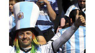 Los argentinos ponen color a las tribunas