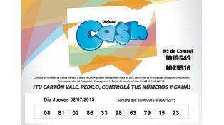 Estos son los números de la Tarjeta CASH semana del 29 de junio al 3 de julio