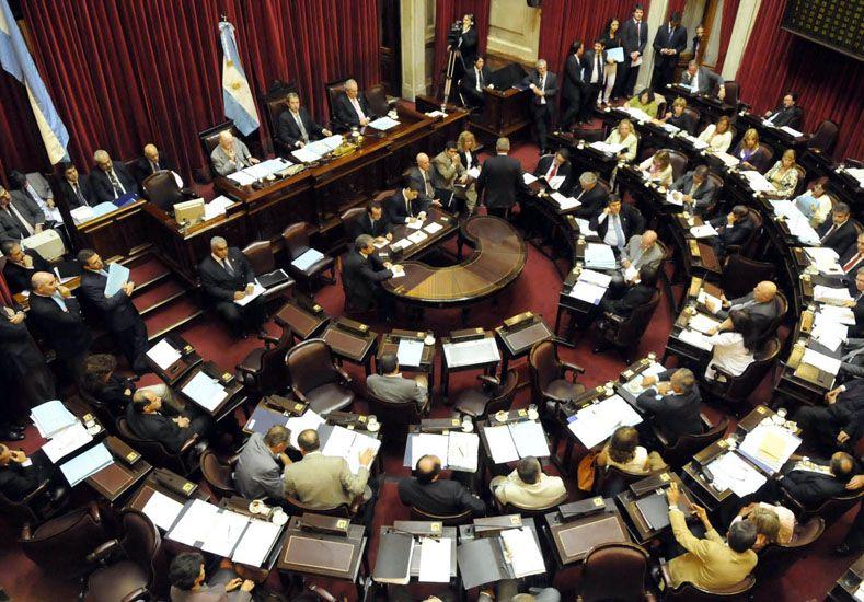 Cámara de Senadores. Foto: Télam