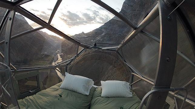La montaña es el techo de esta habitación: Skylodge Adventure Suites