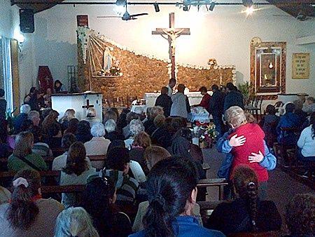Robaron en la parroquia Gruta de Lourdes de Concordia