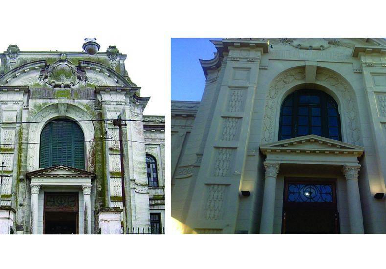 Entregan fondos para continuar la restauración de la escuela Laprida, en Victoria