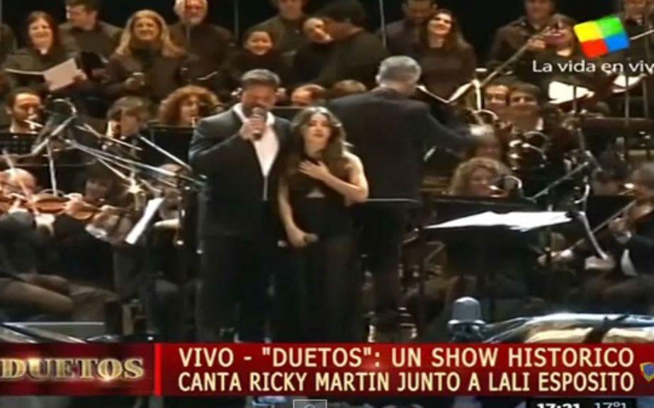 Lali Espósito y Ricky Martin juntos en el escenario