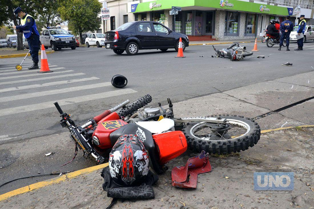 Choque de dos motos