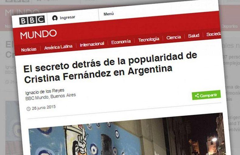 La BBC analiza el fenómeno Cristina