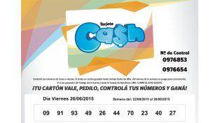 Estos son los números de la tarjeta CASH de la semana del 22 al 26 de junio