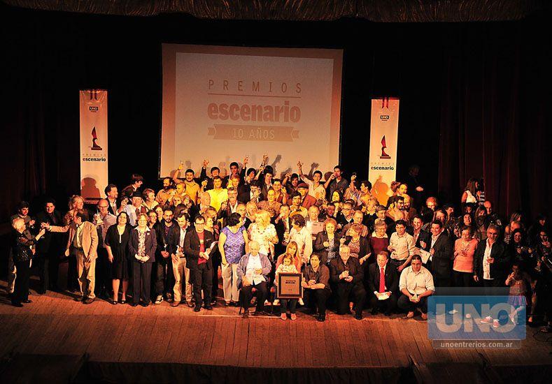 Onceava edición. El Premio Escenario cumple 11 años reconociendo a los artistas. Foto UNO/Juan Manuel Hernández
