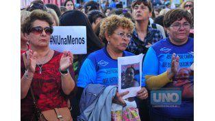 Movilización. El dolor que se vivió en la marcha se tiene que transformar en energía para luchar.   Foto UNO/Juan Manuel Hernández