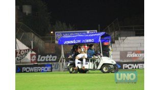 El Chelo debió abandonar la cancha ante de los 20' frente a Juventud y no juega contra Atlético Paraná.     Foto UNO/Diego Arias