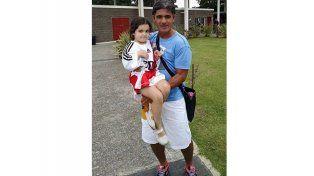 Zaira. Con Ariel Ortega.