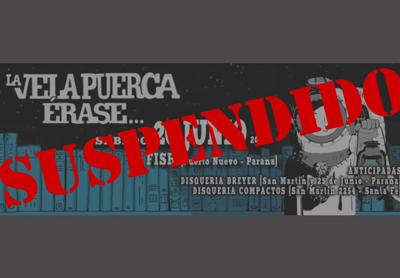 La Vela Puerca suspendió su presentación en Paraná