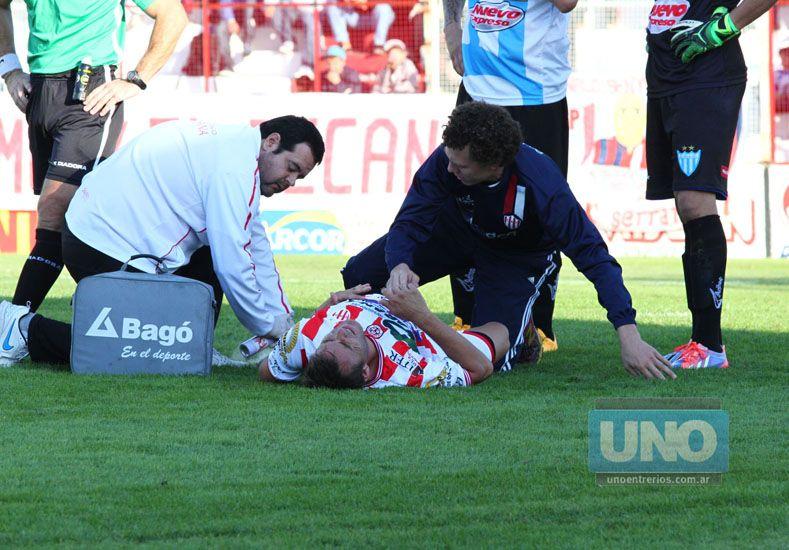 Ledesma es asistido por el cuerpo médico Decano.  Foto UNO/Diego Arias