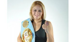 La boxeadora entrerriana va por su sexta defensa del cinturón.