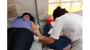 Aumentar la base. Destacaron que creció la cantidad de donantes voluntarios en el San Roque.