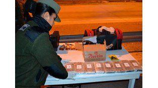Gendarmería secuestró casi cinco kilos de marihuana en Entre Ríos.