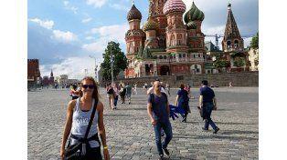 En Rusia. La gira por Europa le da tiempo a Gallay para pegarse una escapada y conocer las grandes obras