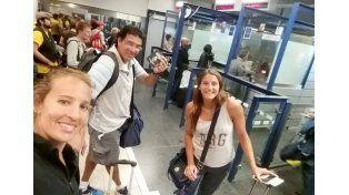 De aeropuerto. La dupla ya pasó por China