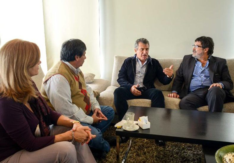 Urribarri se reunió con Halle, Romero y Ríos