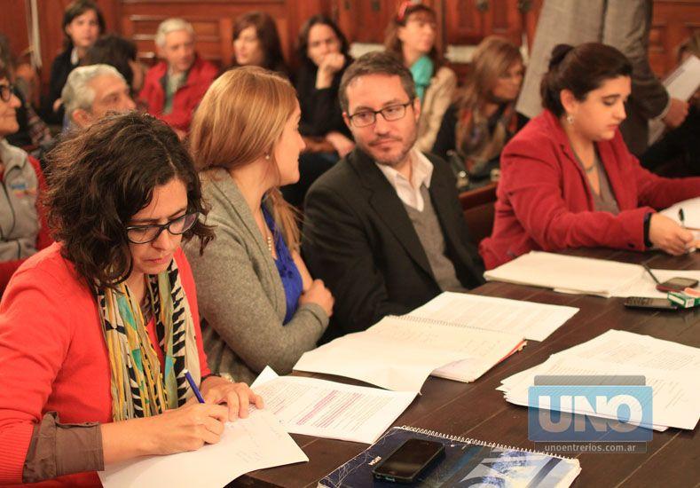 Los abogados querellantes. Foto UNO/Juan Ignacio Pereira