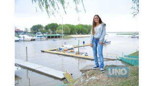 Ayer la joven entrerriana habló de la prueba que la tendrá como protagonista.  Foto UNO/Juan Manuel Hernández