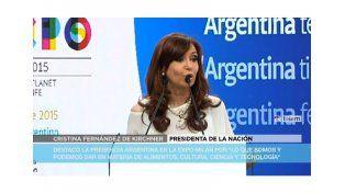Cristina inauguró el stand argentino en la Expo Milán en el cierre de su visita a Italia