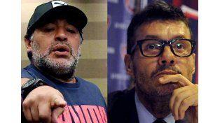 Fuerte cruce entre Maradona y Tinelli