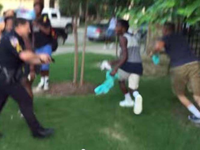 Video: brutal reacción policial en una pool party en Texas