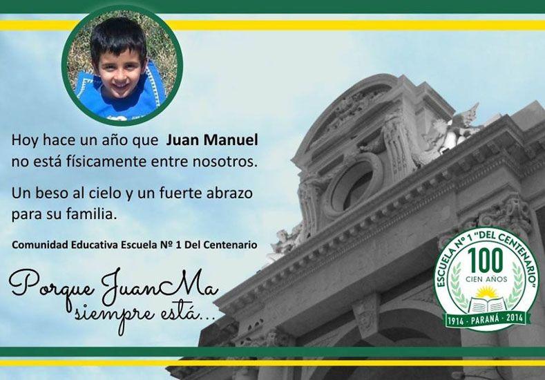 La comunidad educativa de la escuela Del Centenario homenajeó a Juan Manuel