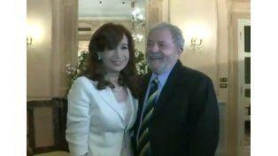 La Presidenta se reunió con Lula Da Silva en Roma. Foto: Captura video.
