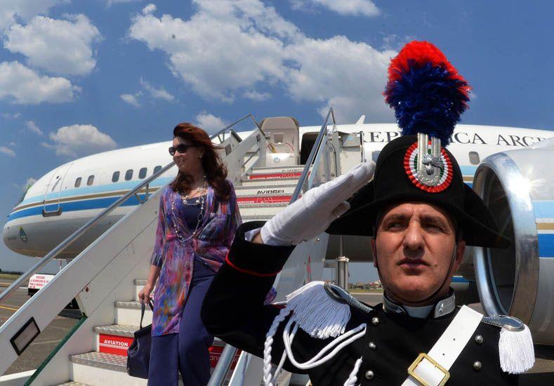 Cristina llegó a Italia para su encuentro con el Papa