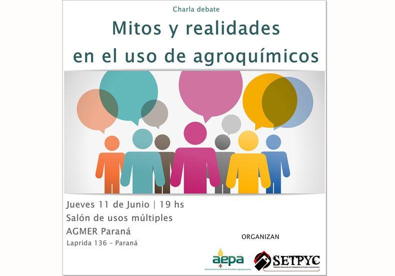 Propician un espacio de debate sobre el uso de agroquímicos