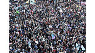 Manifestación masiva en Buenos Aires en adhesión al #NiUnaMenos
