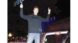 Recibimiento para el atleta Federico Bruno. Foto: El Heraldo