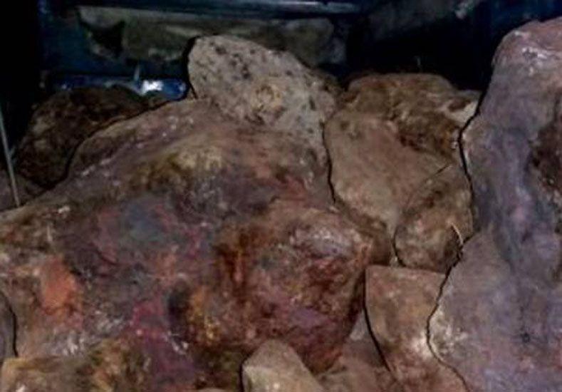 Intentaron robarse 1.500 kilos de meteorito. Foto: Gentileza Gendarmería