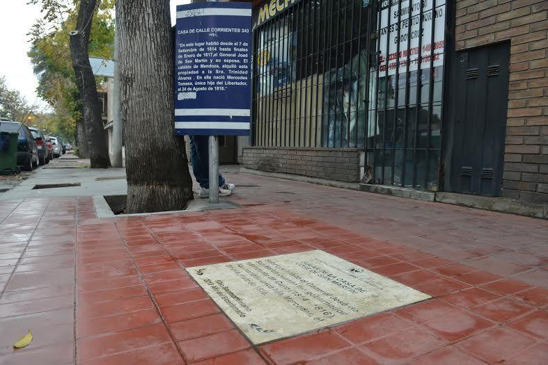 Hallaron restos de la casa que habitó el General San Martín