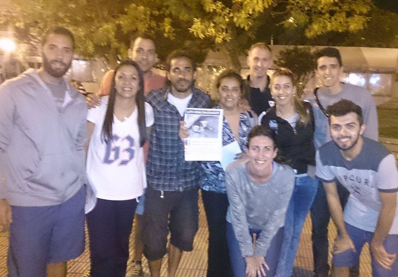 Marianela y Laureano este fin de semana en Cosquín buscando a Yala. Foto: Facebook