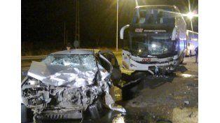 Fatal accidente de tránsito en la Autovía Artigas.