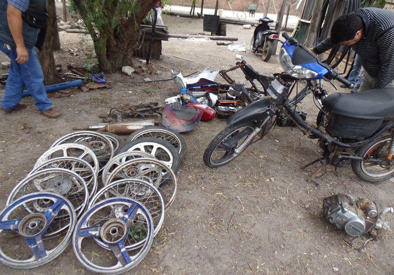 Desarticularon un desarmadero clandestino de motos