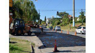 Arreglos en calle Artigas (Foto: Archivo Municipalidad de Paraná)