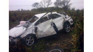 Un hombre murió tras volcar el auto que conducía