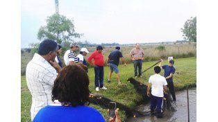 Una nueva forma de criar peces en la costa del Paraná