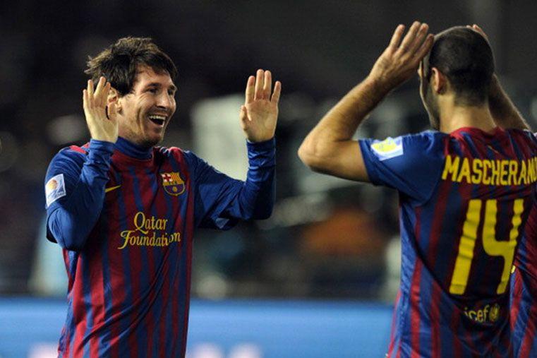 Messi y Mascherano. Foto: Internet