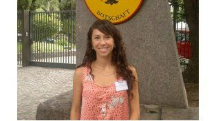 Gabriela Palavecino tomó la beca de la Universidad de Deportes de Leipzig en 2008.