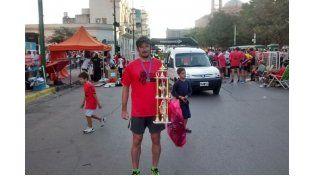 El ganador de la prueba que fue ayer en las calles de Concepción.